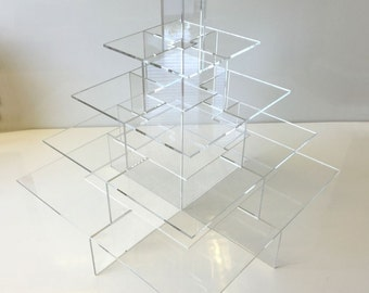 Square Hors d'Oeuvres Presentation Stand - 5 Tier