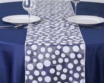 White Dot Table Runner - Modern