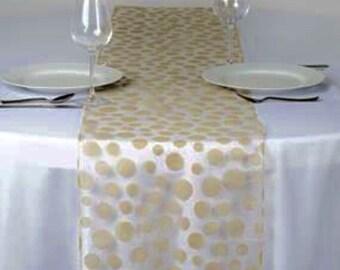 Champagne Dot Table Runner - Modern