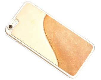 Leather iPhone 7 Plus Case - Stylish Modern Wave
