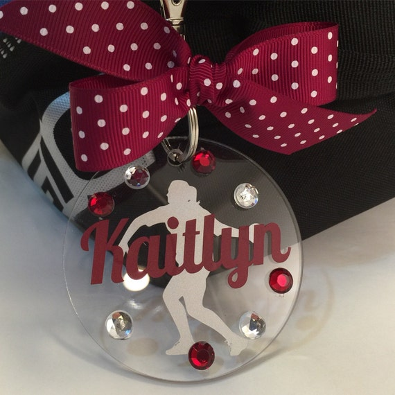 Discus Thrower Track And Field Bag Tag Personalized By