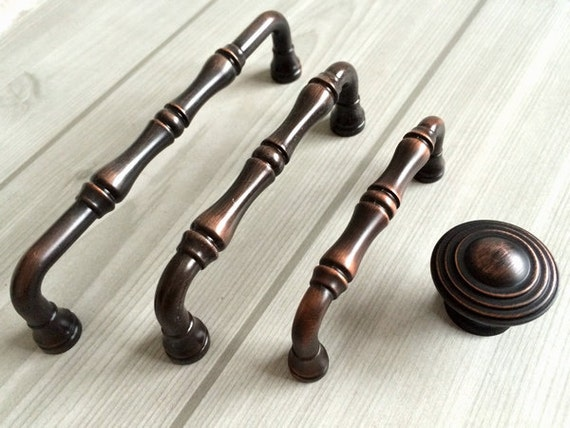 drawer pulls handles knobs bamboo black red oil bronze kitchen cabinet