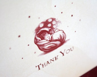 Harry Potter Baby Shower Thank You Cards (10)