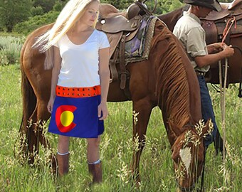 Colorado Spirit Skirt, Special Order Only. Ships in 4 weeks.