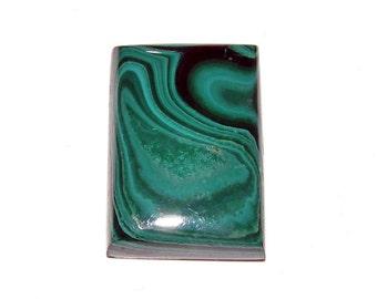 loose gemstone rectangle shaped green malachite cabochon 71.6 ct (MA105)