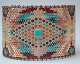 Peyote Bracelet, Peyote Cuff, Seed Bead Bracelet, Handmade Bracelet, Bracelet