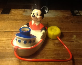 ON SALE/VINTAGE Mickey Mouse Bubble Barge