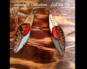 Love Petals Ear Dangles . Infinity 8 Collection