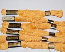 Vintage Embroidery Floss Thread  6 Skeins J & P Coats Orange No. 11