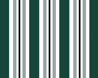 Go Team! Green and White Stripes Pet Collar (Martingale, Buckle, or Tag)