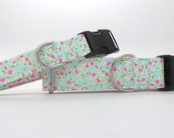 Mon Petit Jardin Dog Collar (Martingale, Buckle or Tag)