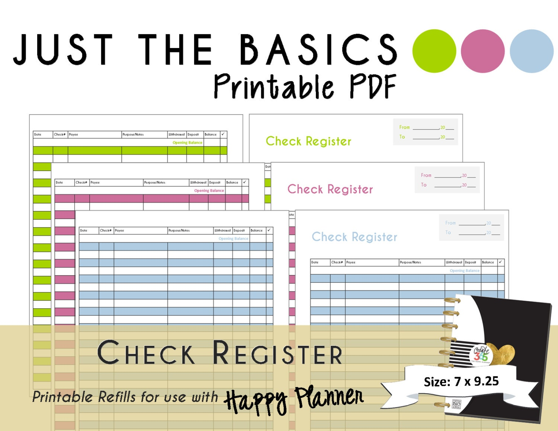 check registers printable