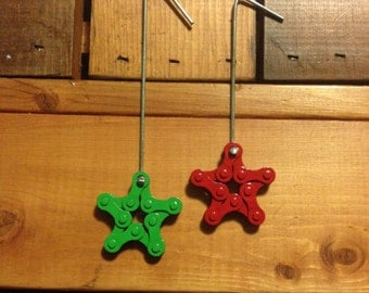 Powder Coated Bicycle Star Ornament