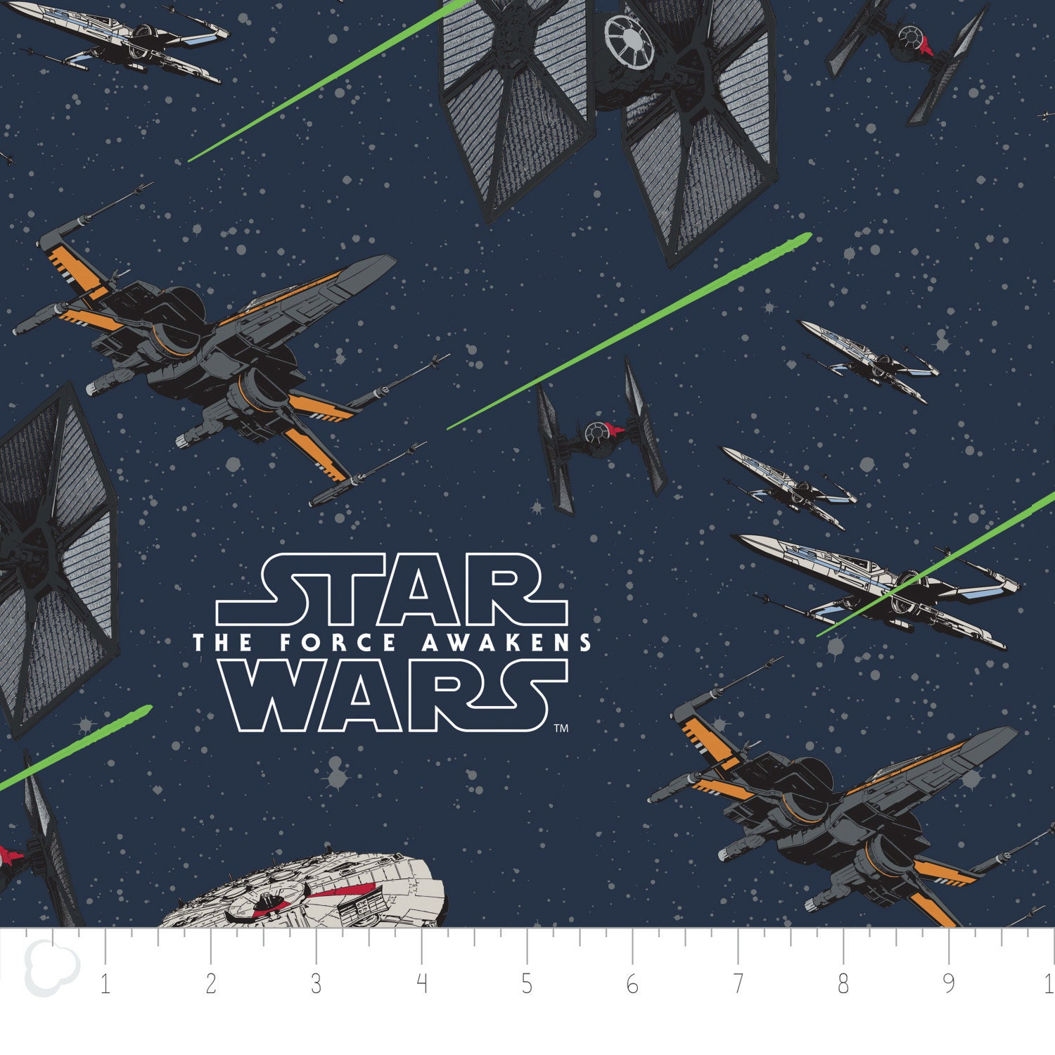Star wars fabric the force awakens ships camelot rebels for Star wars fabric