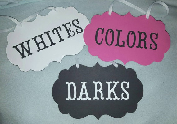 Hanging Laundry Sign Hanging Laundry Sign Set Of 3 Whites Darks And Colors Card