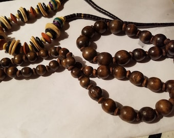 ON sale two vintage beaded necklaces #28