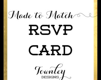 Custom RSVP Card to Match Your Invitation