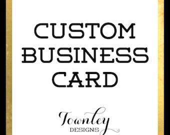 Custom Business Card Design, Business Branding, Customized Business Card, Business Card Design, Graphic Design