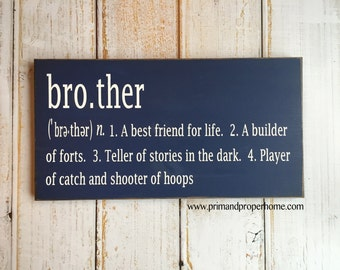 Brother Definition - Hand Painted Typography Sign