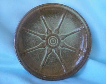 Frankoma Dessert or Bread and Butter Plate/Prairie Green Wagon Wheel Frankoma Saucer