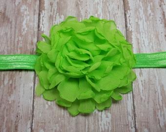 Apple Lime flower headband