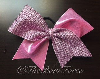 Tick Tock Pink Bling Bow #251651911