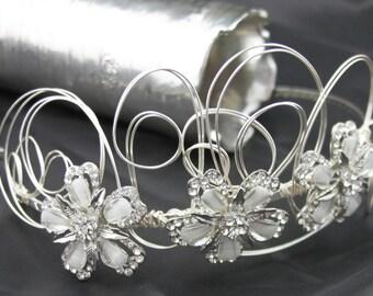 BRIDAL HEADPICE/Tiara/Headband - LUNA