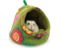 Small Animal cozy house place for sugar glider, Mouse, dwarf hamster 4 inch