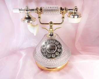 Vintage Crystal Telephone Works
