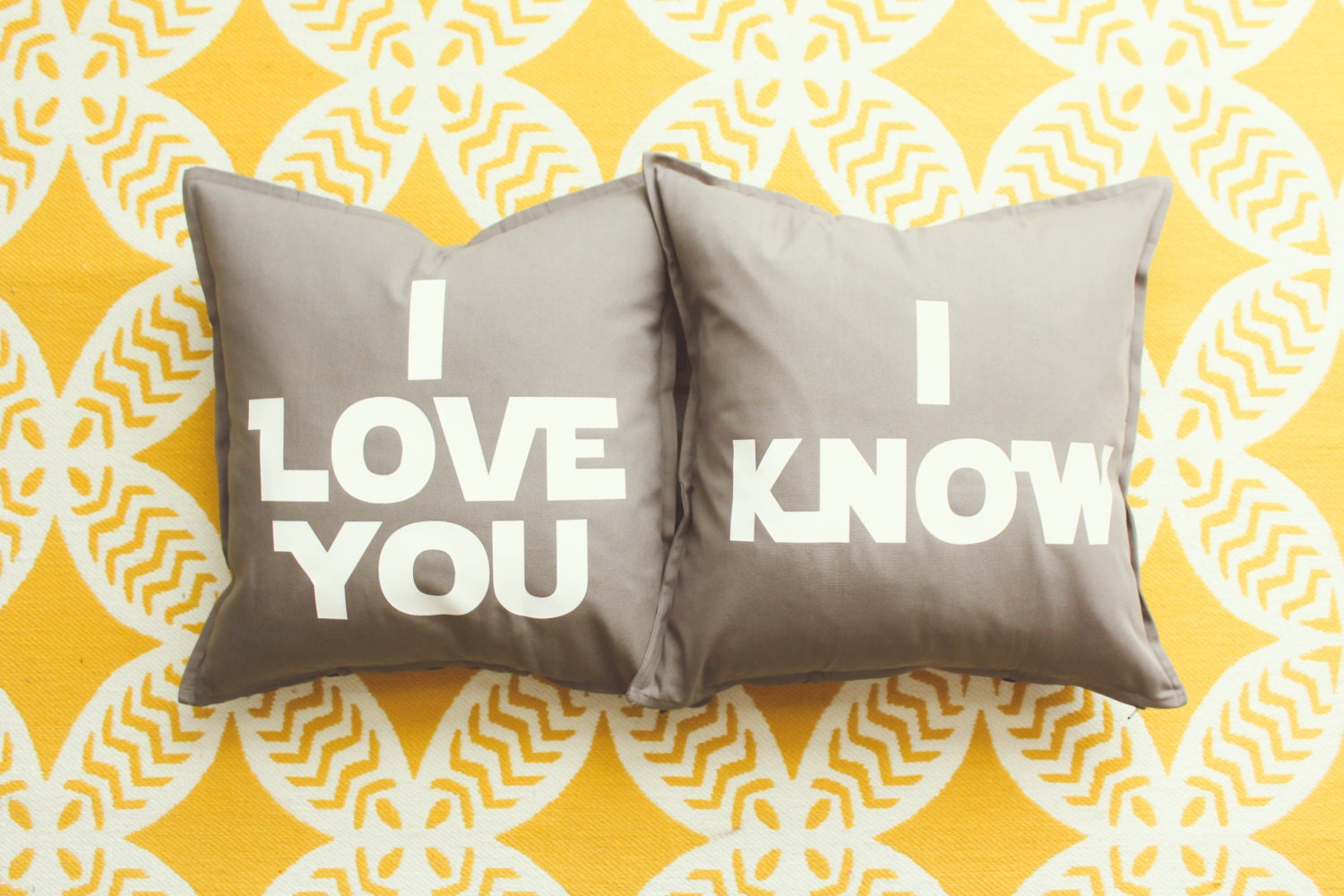Star Wars I Love You Know Pillow Cover Set