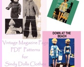 Vintage Knitting Pattern Sindy dolls clothes 11 to 12 inch teen doll clothes pattern to knit PDF 590 from ToyPatternLand and WonkyZebra