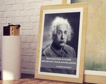 ALBERT EINSTEIN Art Poster * Einstein's Best Quotes Wall Art Print * A3 A4 Sizes Available