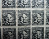 Unused Postage Stamps - Vintage 4 Cent Abraham Lincoln Stamps for Postage or for Art, Jewelry, Decoupage, Paper Crafts, Collage and More...