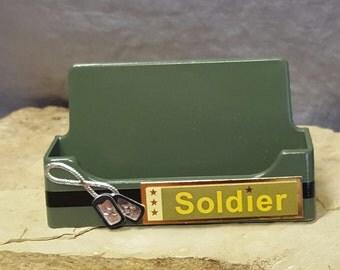 Soldier - Desktop Business Card Holder