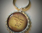 Harry Potter Quote Bottlecap Keychain