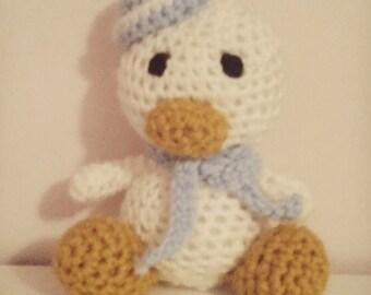 Duck Amigurumi - Custom hand made- Add a child's initials