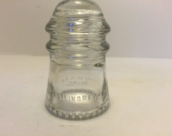 Small Clear Glass Hemingray Electric Insulator