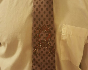 Reasons or the Red Ribbon hand painted necktie