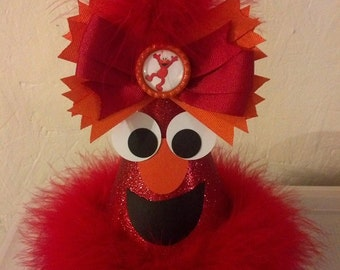 sesame street elmo birthday party hat with removable bottlecap hairbow elmo party supplies