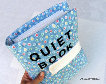PDF Quiet Book Cover Instructions, printable instructions for how to make your own quiet book cover