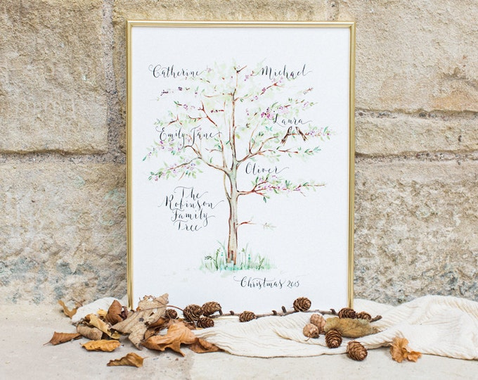 Featured listing image: Modern calligraphy family tree