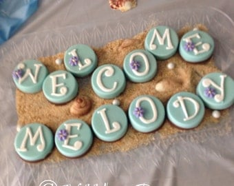 12 Custom Name OREOS, Baby Shower, Welcome Baby