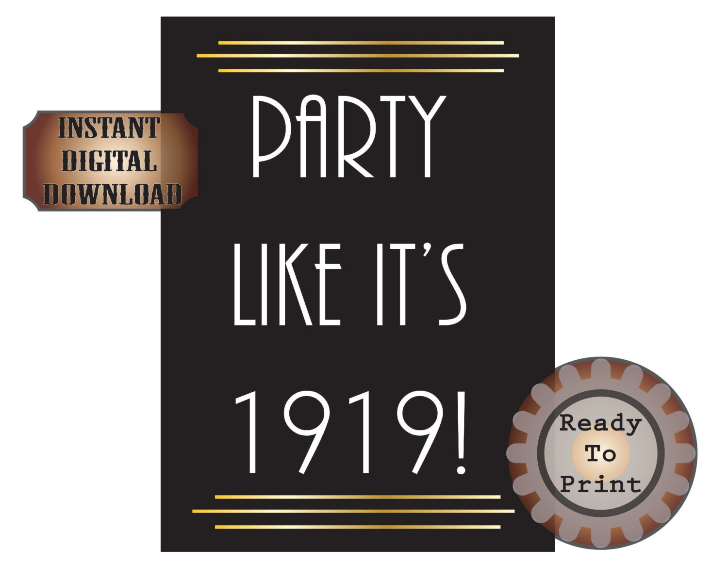 Party like it 39 s 1919 digital prohibition 1920s speakeasy for 1920s party decoration speakeasy