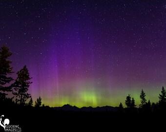 Northern Lights over Mt. Stuart, Aurora Borealis over Mt. Stuart