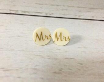 Wedding Earrings - Bride Earrings - Bridal Earrings - Brides Earrings - Mrs Earrings - Acrylic   Earrings - Bridal Jewelry - Wedding Jewelry