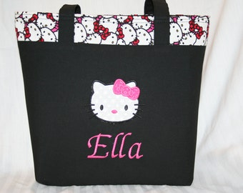 Personalized Hello Kitty Tote Bag