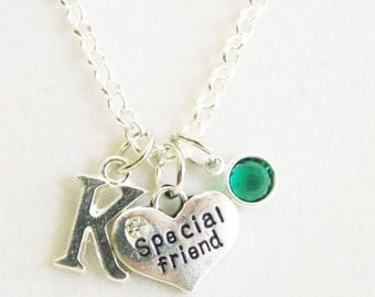 Special Friend Necklace - Friend Gifts - Friend Necklace - Personalized Gifts - Friend Jewelry - Best Friend - Friend Birthday Gifts