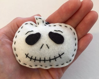 Felt Pumpkin Ornament - Jack Skellington