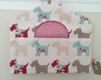 Peg Bag - Clarke & Clarke Westie/Scottie Fabric