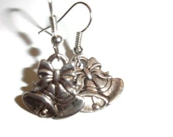 Holiday Bells Earring Winter Earrings Simple Holiday Earrings Christmas Earrings Silver Bells Earrings Christmas Time Is Here Party Earrings